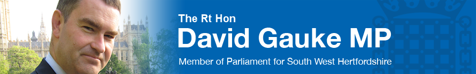 The Rt Hon David Gauke MP - Member of Parliament for South West Hertfordshire