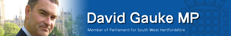David Gauke MP - Member of Parliament for South West Hertfordshire